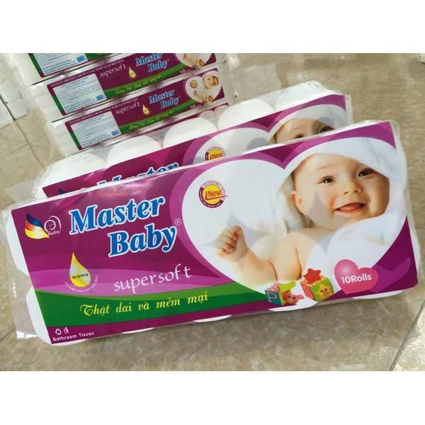 Giấy vệ sinh 3 lớp Baby Master bịch 10 cuộn không lõi
