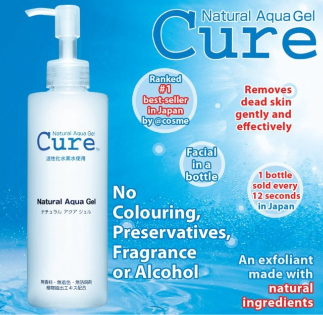tẩy da chết số 1 tại Nhật CURE Natural Aqua Gel