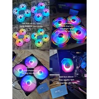 Yêu ThíchFAN CASE MÁY TÍNH coolmoon rainbow không dùng hub LED 5 MÀU - LED ĐƠN XANH/ĐỎ SIÊU ĐẸP NEW