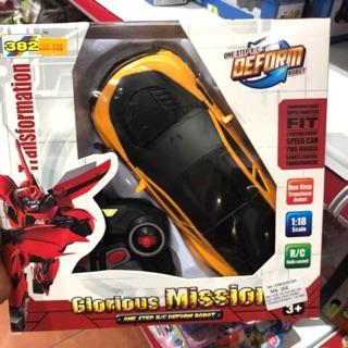 Xe hơi điều khiển biến hình robo Transformer có sạc