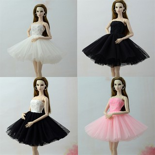 ❤❤Handmade Doll Dress Clothes For Barbie 1/6 Dolls Party Daily Tulle Gown Dres