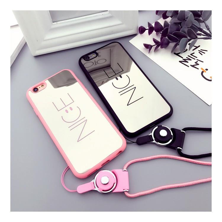[ELMT30K hoàn 30K Xu] [Tặng kèm dây] ỐP LƯNG GƯƠNG NICE - ỐP DẺO cho Iphone