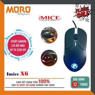 Chuột Gaming có dây Imice X6 - Led RGB Đổi Màu - độ nhạy 3200 DPI thumbnail