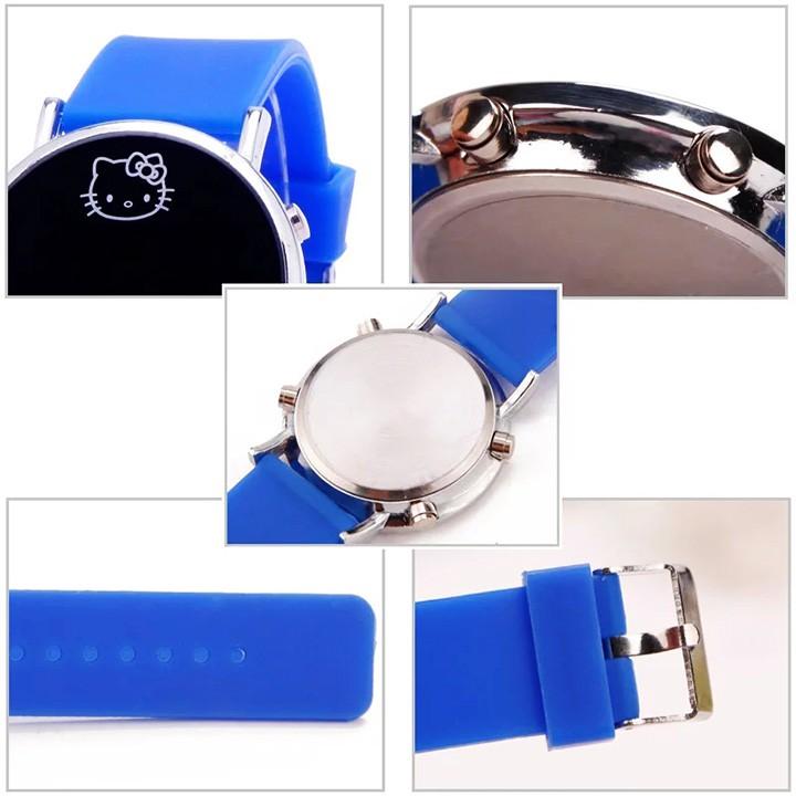 Đồng hồ đeo tay đèn led cho bé gái hình Mèo năng động BBShine – DH009