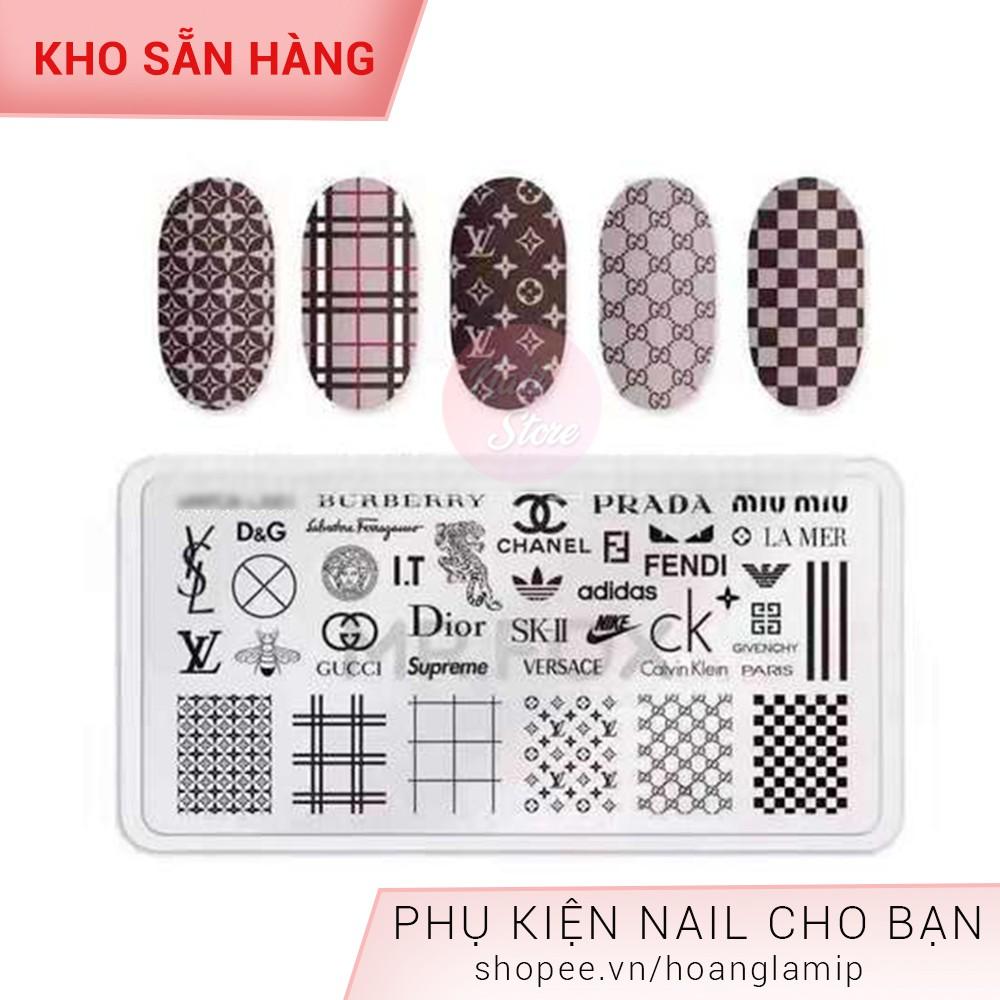 Khuôn in hoa văn thương hiệu in móng tay S Nail