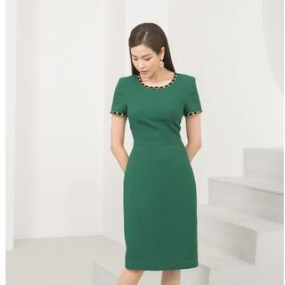 Đầm xanh đính xích thiết kế Elise thumbnail