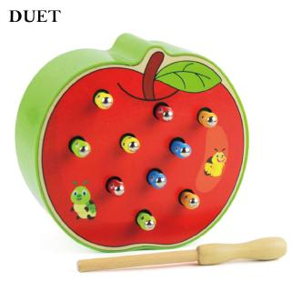 Catch Worm Game Magnetic Wooden Educational Toys Table Games Baby Develop Trendy
