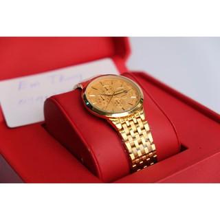 Đồng Hồ Nam Nữ BAISHUNS mạ vàng cao cấp bền màu chống nước tốt siêu mỏng thumbnail