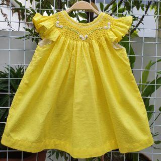 Váy smock thô boi hạt vàng