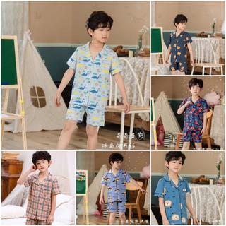 Bộ Pijama cộc tay in hình xuất Hàn bé trai 2-7 tuổi