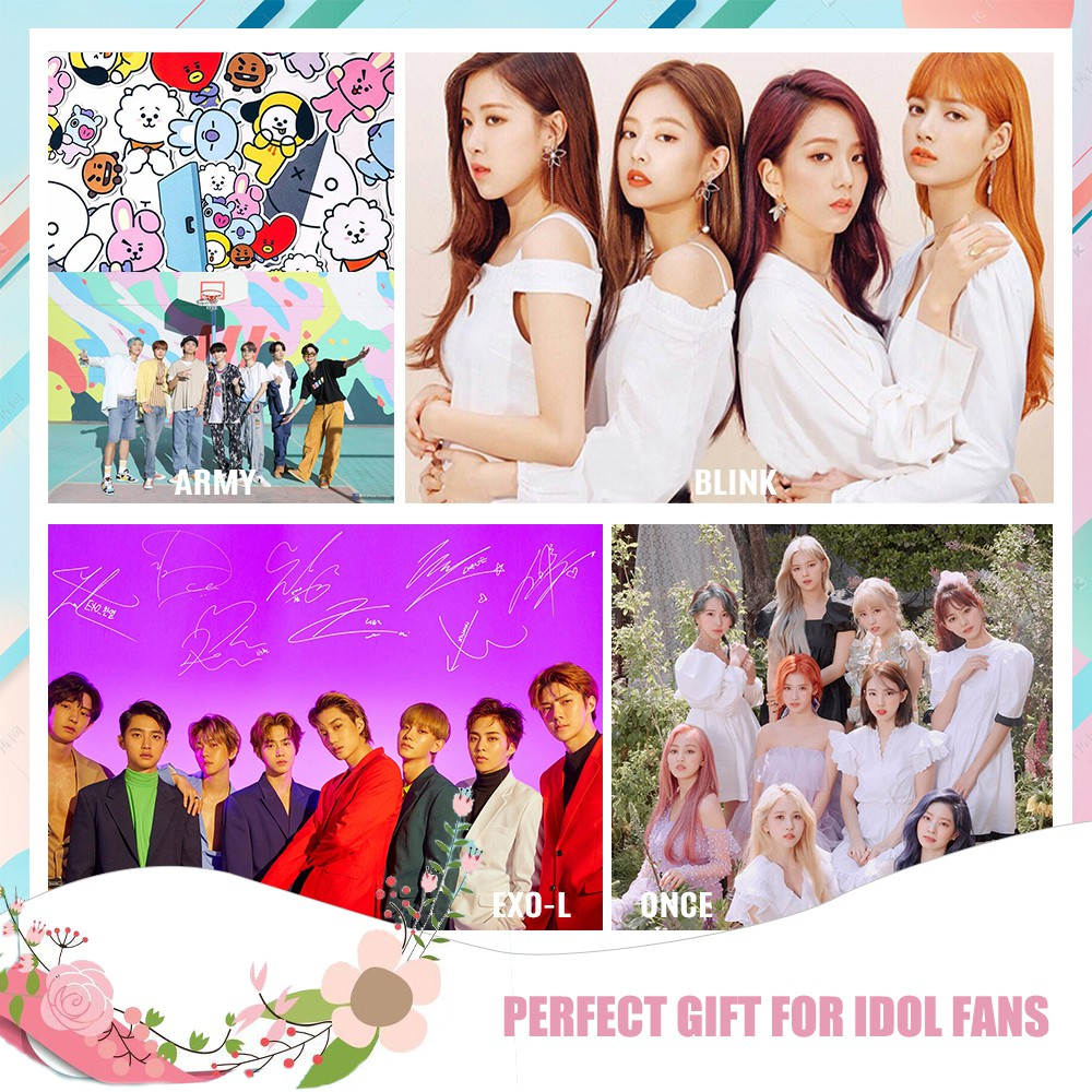 12Pcs/set Korean Idol Group BTS, EXO, TWICE, BLACKPINK Stickers for Laptops Books Diary Cup Phonecase Gifts for daughter/girls/teens/ARMY/EXO-L/ONCE/BLINK