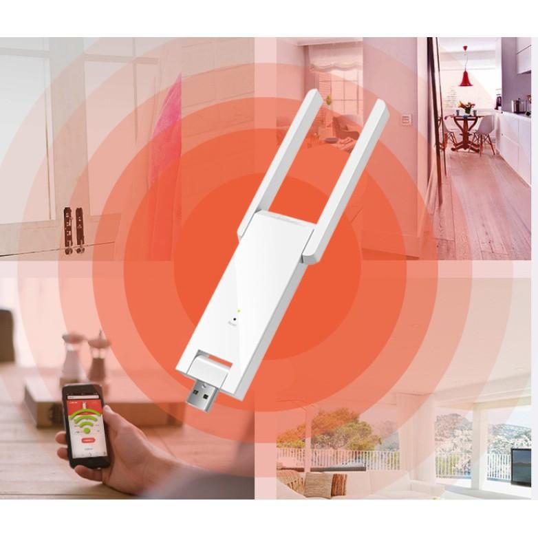 Repeater Thu và phát lại sóng wifi từ cục phát Wifi gốc nhân rộng mạng wifi tăng tốc độ mạng
