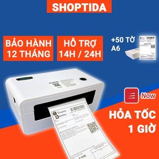 Máy in nhiệt Shoptida SP46 in đơn hàng, phiếu gửi, minicode, logo tự dán, bảo hành 12T