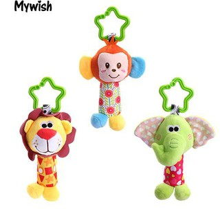 👶🏼Baby Infants Handbell Bed Stroller Hanging Cartoon Animal Plush Rattle Toy