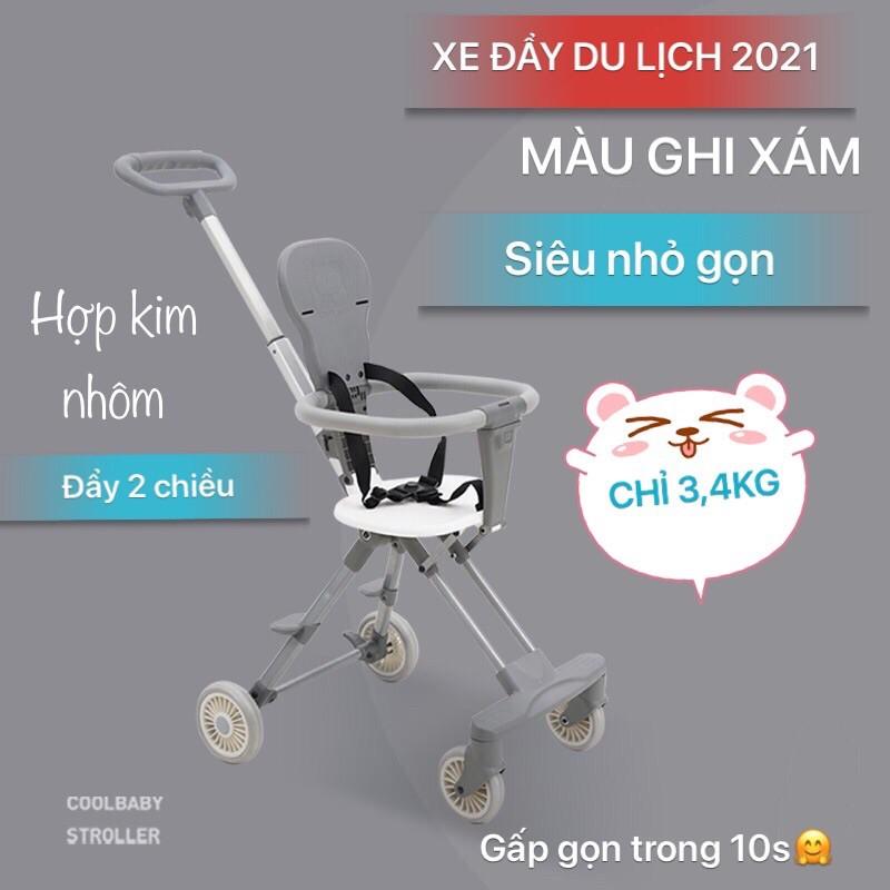 ( XẢ LỖ) XE ĐẨY DU LỊCH SIÊU NHỎ GỌN COOL BABY 2021
