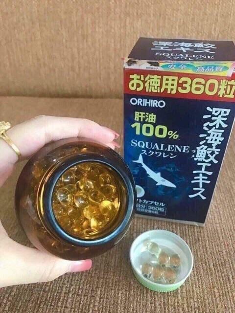 Viên Uống Sụn Vi Cá Mập Orihiro Squalene Nhật Bản, Dầu Gan Cá Mập Orihiro Nhật Bản