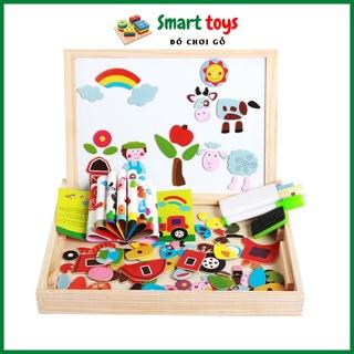 Đồ chơi gỗ ghép hình bảng nam châm cho bé trai bé gái phát triển trí tuệ Smarttoys thumbnail