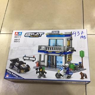 [có sẵn ] Lego xe ngôi nhà cảnh sát – đồ chơi xếp hình lắp ráp xe ngôi nhà cảnh sát với 382 miếng ghép