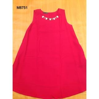 8751 - Váy form A đính hạt đá xinh đẹp