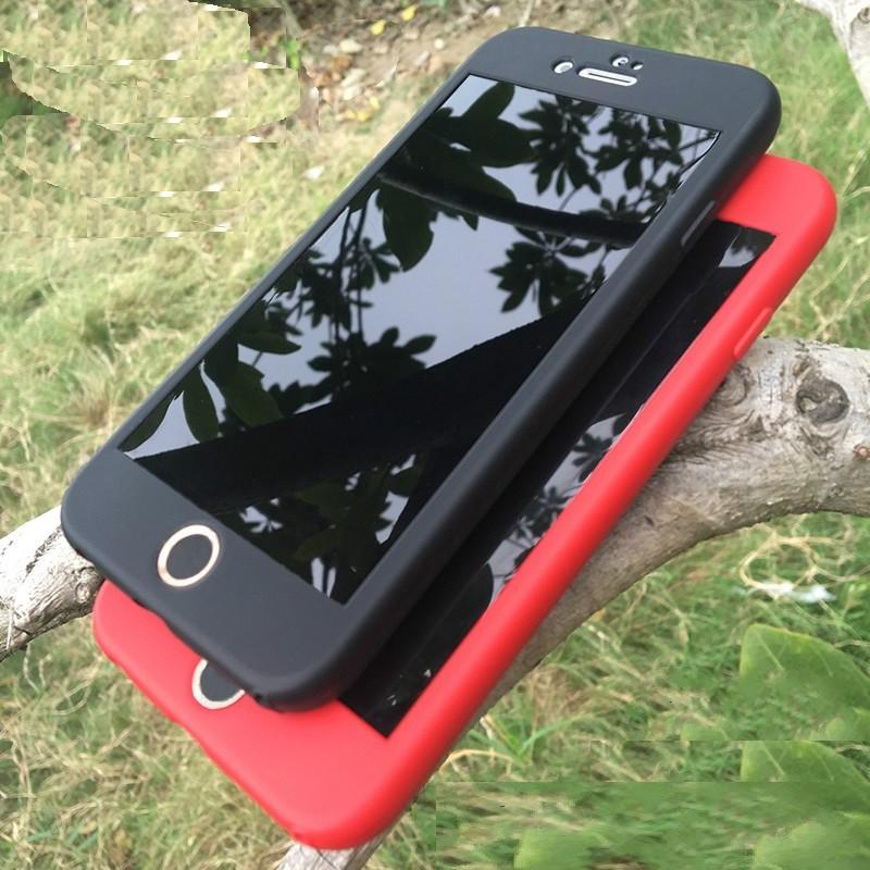 Ốp lưng Iphone 5/5s, 6/6s, 6/6s Plus, 7/8, 7/8 Plus, X/Xs chống sốc 2 mặt 360 độ