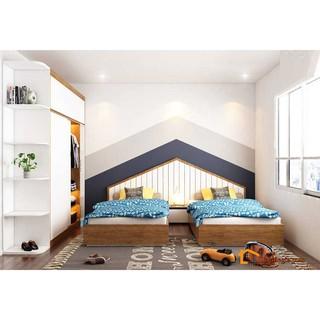 [PHÒNG TRẺ EM] Bộ Giường Tủ Trẻ Em Đẹp Như Mơ Cho Hai Bé Cùng Phòng LG-PTE145