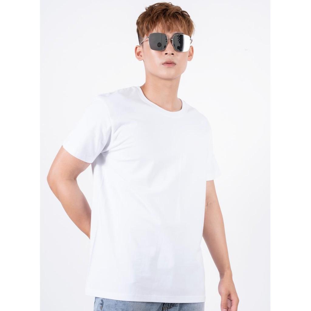 Áo Phông Nam Trơn Áo Ngắn Tay Không Cổ Basic 360 Boutique - APHTK058