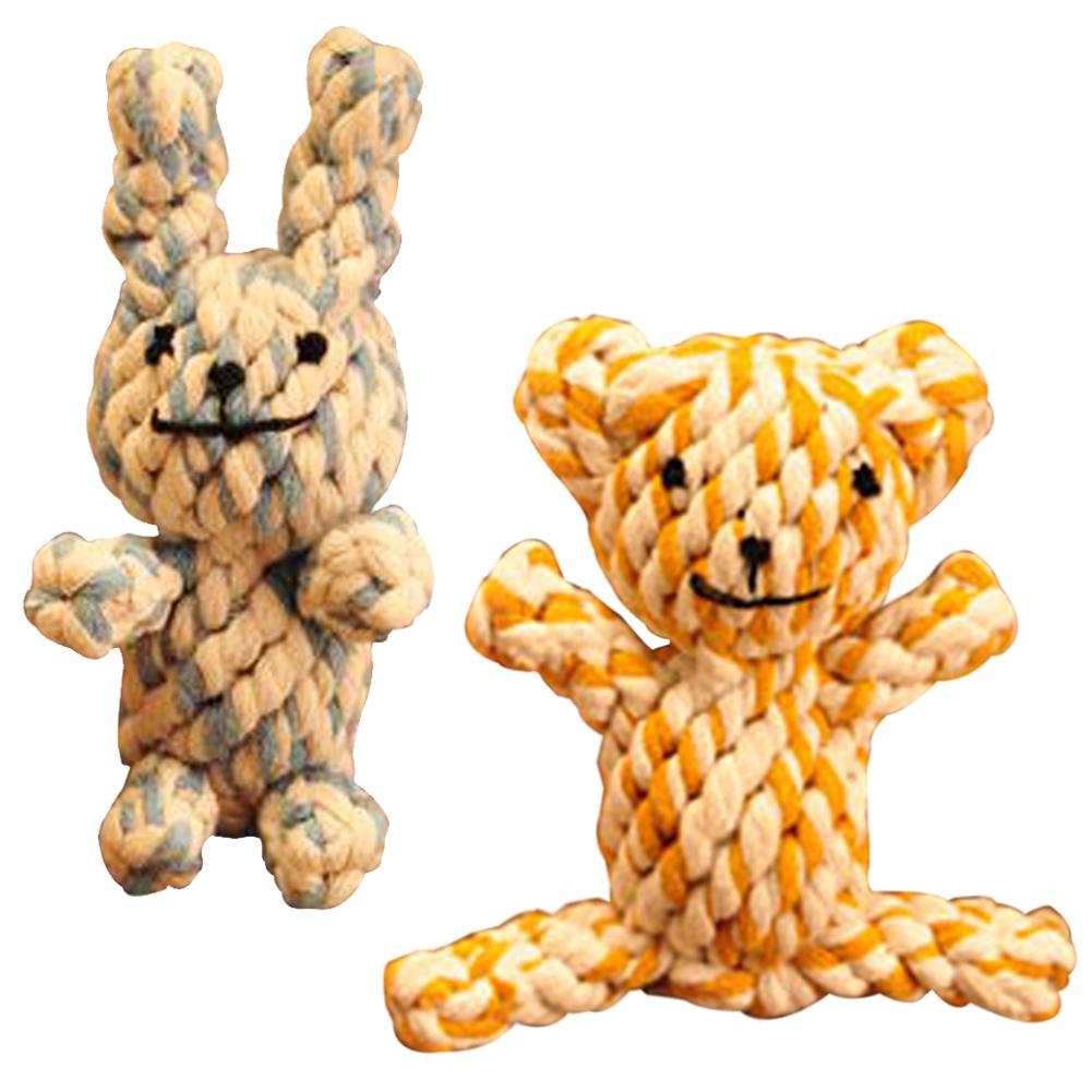 Braided Bear Chew Knot Toys Dog Pet Puppy Strong Cotton Rope Play Toy HOT