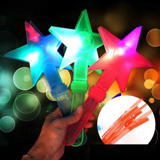 【HKM1】1Pc Star LED Hand Clapper Noise Maker Flash Light Glow Stick Party Concert Favor