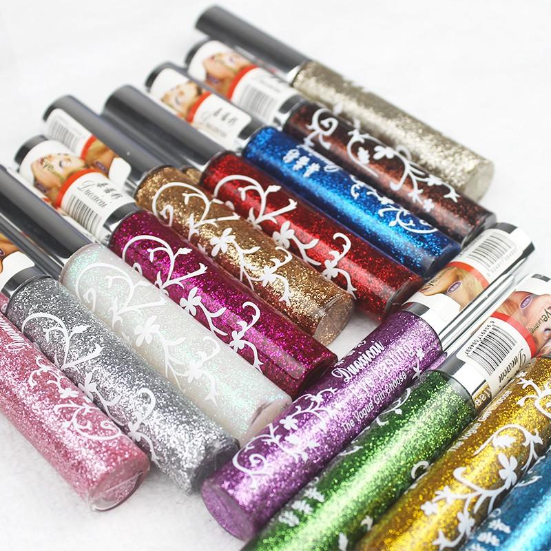 ✗【 】 two pens sparkling eyeliner liquid flash powder eye shadow colour makeup dance kindergarten children Latin perfo