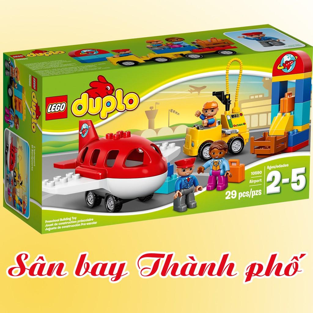 LEGO Duplo 10590 Sân Bay Thành Phố (29 Chi Tiết) – Đồ Chơi Xếp Hình LEGO Chính Hãng Đan Mạch