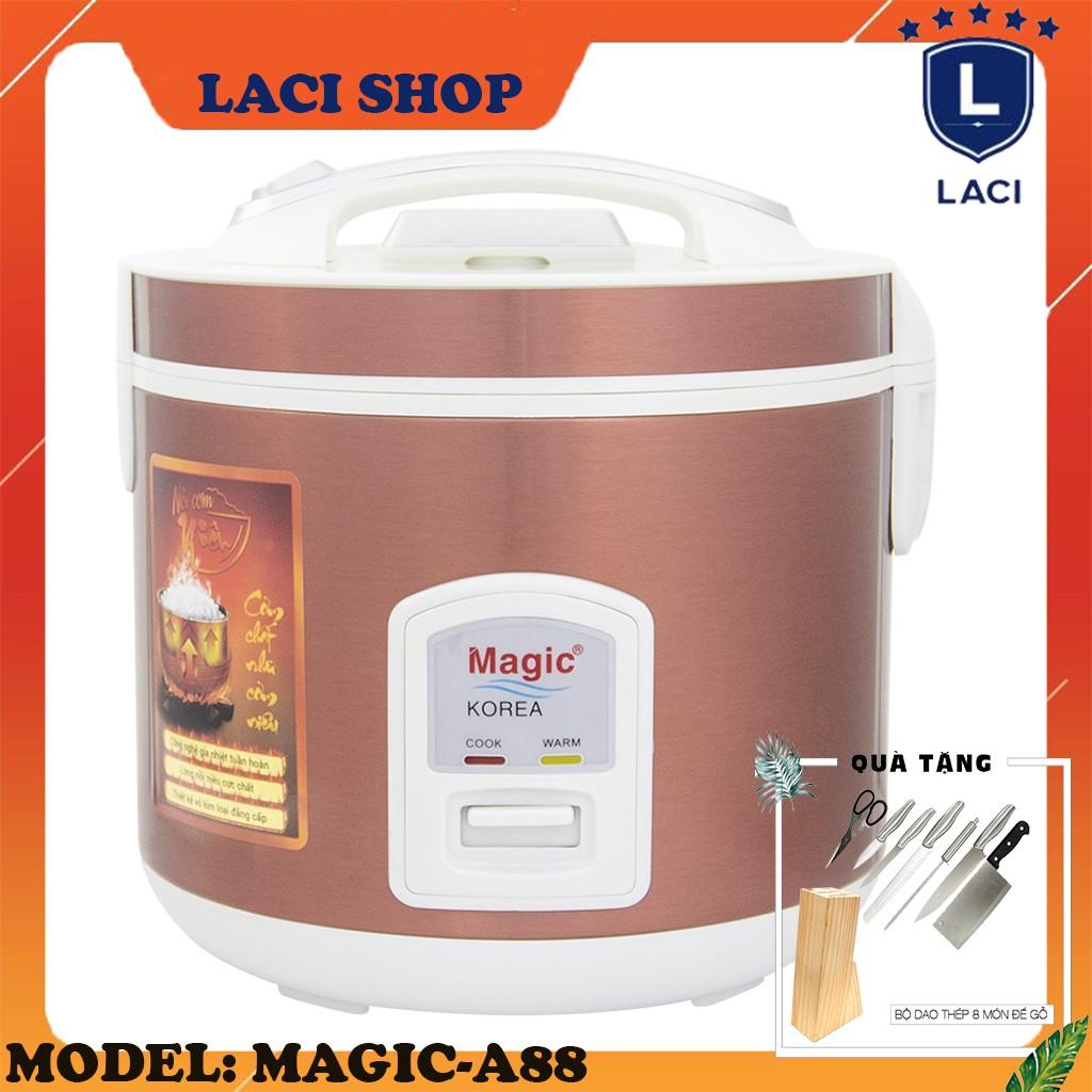 Nồi cơm điện lòng niêu Magic Korea A88   Dung Tích 2L   Công Suất 650W   Tặng Bộ Dao Làm Bếp 8 Món