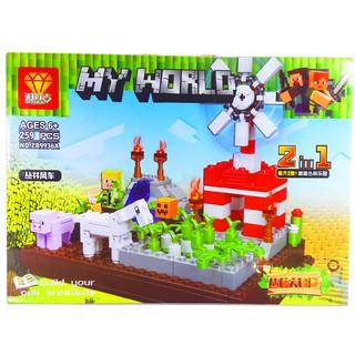 Bộ Lego Xếp Hình Ninjago MineCraft My World Trang Trại LB-529. Có 259 Chi Tiết. Lego Ninjago Lắp Ráp Đồ Chơi Cho Bé.