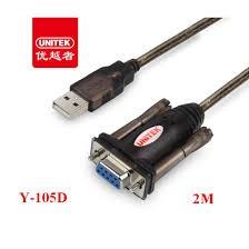 Dây USB to COM RS232 (đầu RS232 âm) Chính hãng Unitek Y105D- Bảo Hành 12 Tháng- 1 Đổi 1