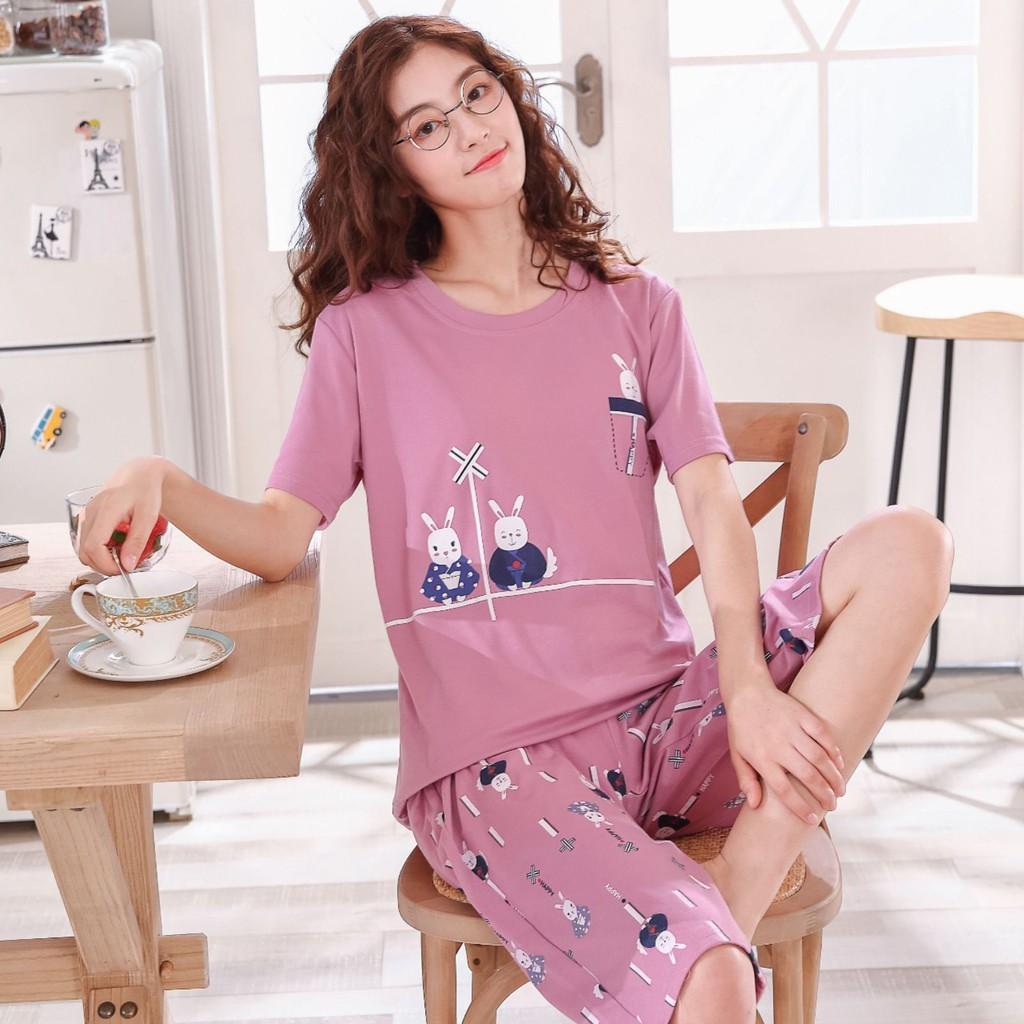 set đồ bộ ngắn tay phong cách trẻ trung năng động dành cho nữ