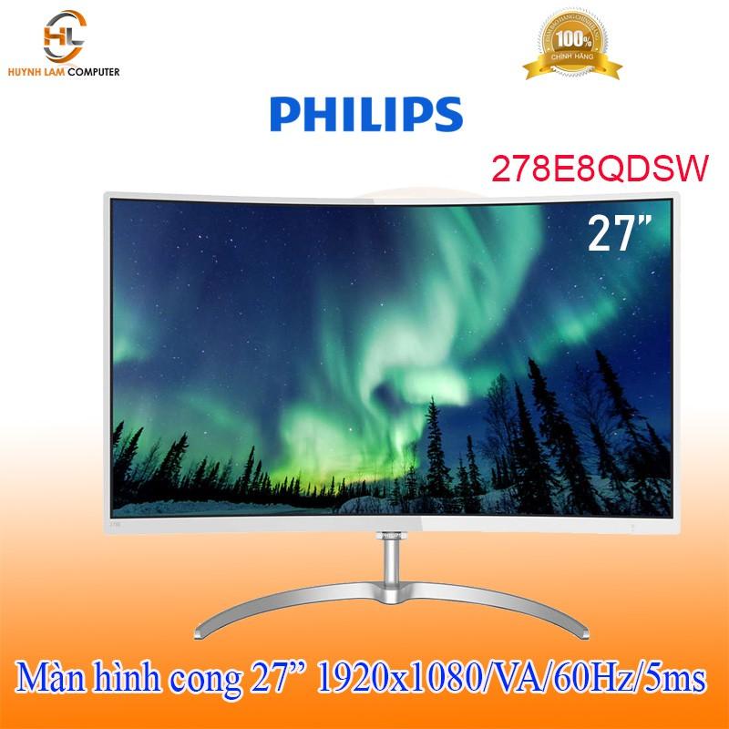 """[Mã ELMIDNIGHT giảm 7% đơn 2TR] Màn Hình cong Philips 27"""" 278E8QDSW (1920x1080/VA/60Hz/5ms)"""