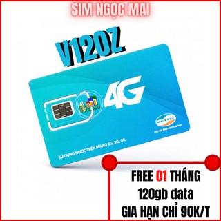 SIM 4G VIETTEL V120 – V120Z – 120GB DATA – 4GB MỖI NGÀY – FREE GỌI (giá khai trương )