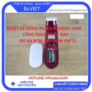 Nhiệt Kế Hồng Ngoại Đo Trán Kaneko A200 - Đo nhanh 1s, đo không tiếp xúc, cách xa 3cm, độ chính xác cao thumbnail