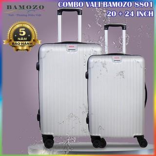 Combo Vali Kéo Du Lịch Size 20 Inch Và 24 Inch Nhựa Cao Cấp Giá Rẻ Bền Đẹp Bảo Hành 5 Năm Bamozo 8801 thumbnail