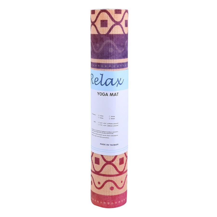 Thảm yoga Relax PU cao su hoa văn mẫu số 02