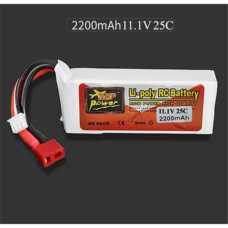 Pin ZOP Power 3s 11.1V 2200mah 25C