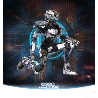 Mô hình 3D kim loại lắp ráp MU Model Robot Siêu chiến binh Nano Code [Chưa lắp]
