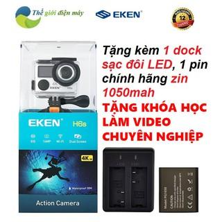 [Freeship toàn quốc từ 50k] Camera hành trình EKEN H6S phiên bản mới tặng kèm dock sạc đôi và pin 1050 bảo hành 12 tháng thumbnail