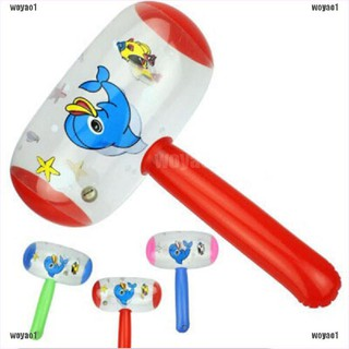 〈COD〉 Cartoon Inflatable Hammer Air Hammer With Bell Kids Children Blow Up Toys 〈Surprise〉