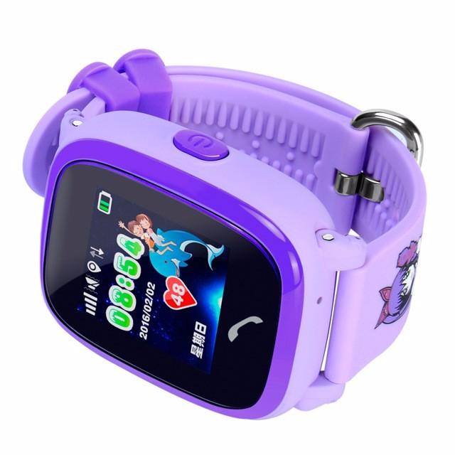Đồng hồ định vị trẻ em DF25G - chống nước tuyệt đối (Tím)