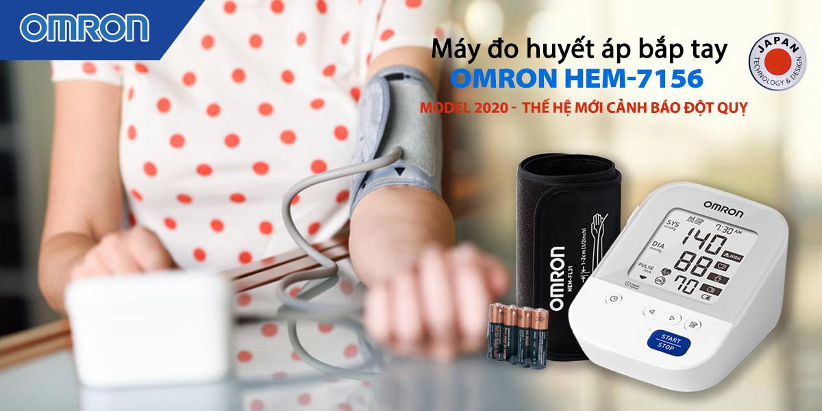 Máy đo huyết áp bắp tay Omron HEM-7156 - Made in JAPAN