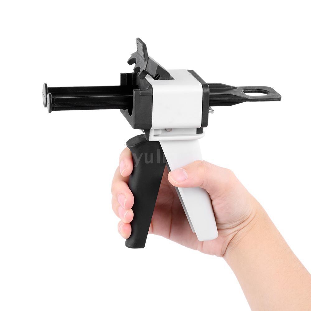 YULA Dental Impression Mixing Dispensing Universal Dispenser Gun Silicon Rubber Dispenser Gun1:1 /1:2 50ml