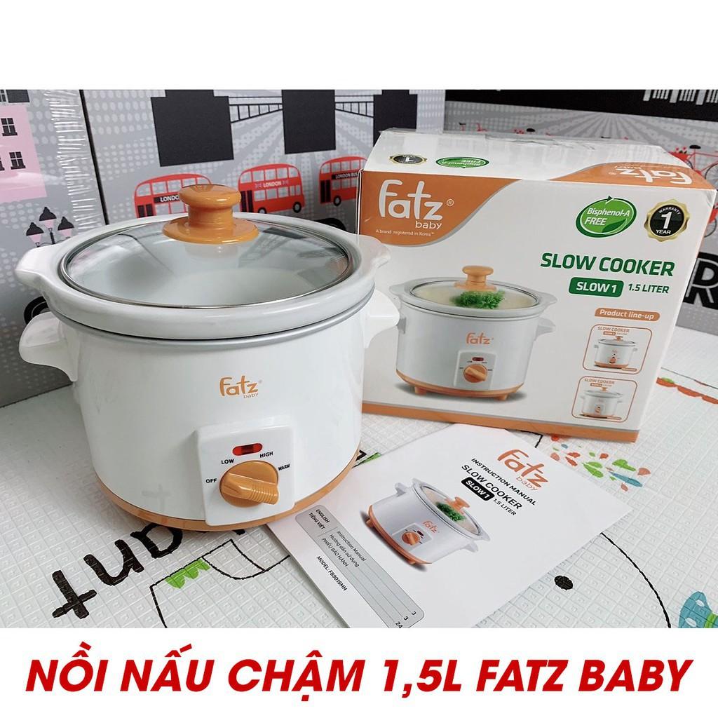 Nồi nấu chậm Fatz baby 1.5 lít FB9015MH và 2.5 lít FB9025MH