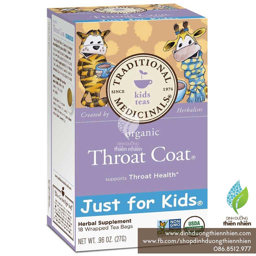 Trà Hữu Cơ Hỗ Trợ Điều Trị Viêm Họng Traditional Medicinals Organic Throat Coat TEA
