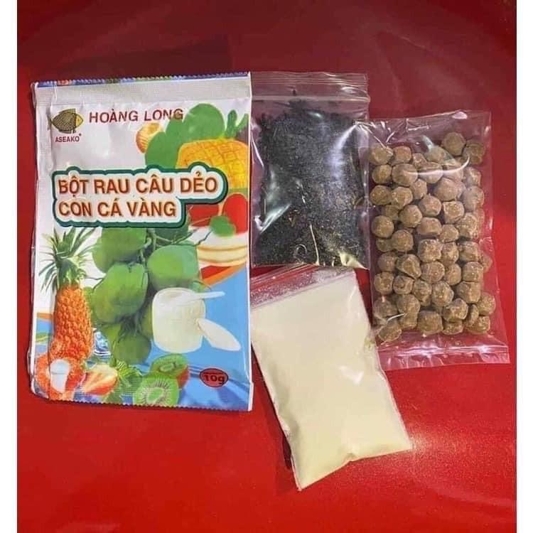 Nguyên liệu làm Trà sữa thái sét 4 thứ (từ 100 sét 7,5) kèm trân châu