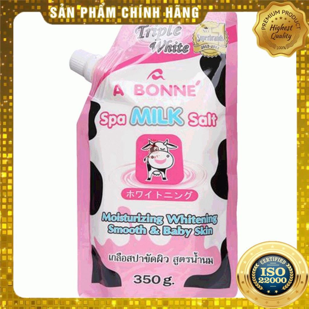 [ Yams Mart ] Muối Tắm Sữa Bò Tẩy Tế Bào Chết A Bonne 350g-850